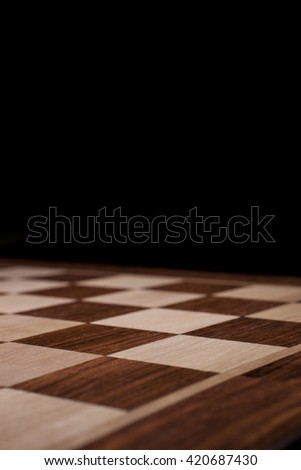 empty chess board - stock photo