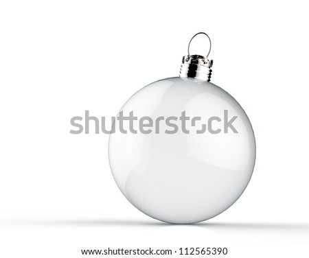 Empty Christmas ornament - stock photo