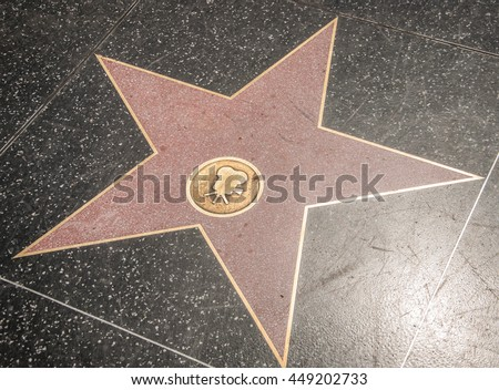 Empty cine star on Hollywood Walk of Fame