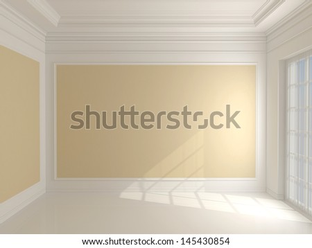 Empty classic interior - stock photo
