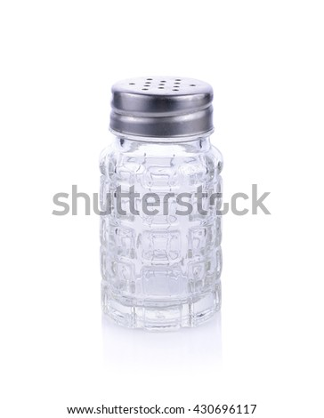 empty classic shakers on white background