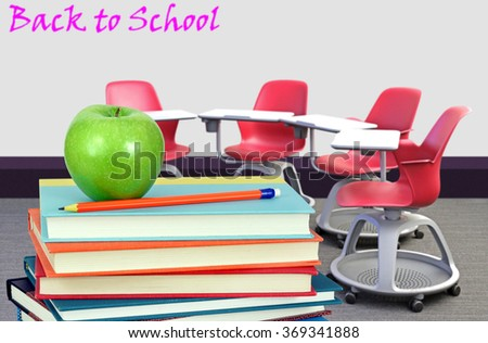 empty classroom for back to school concept of education - stock photo