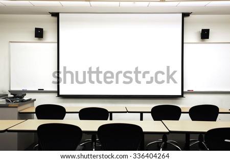 empty classrooom - stock photo
