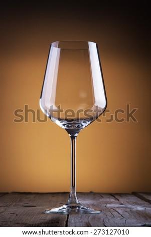 Empty classy wine glass  - stock photo