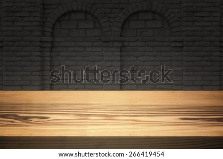 Empty clear desktop. - stock photo