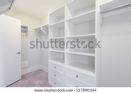 Amazing Empty Closet, Working Closet, Cupboard In Bedroom.
