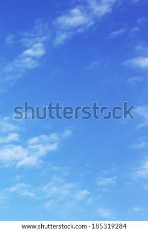 Empty cloudy sky - stock photo