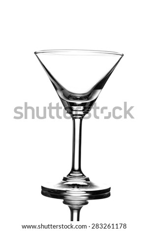 Empty cocktail glass  on white background - stock photo