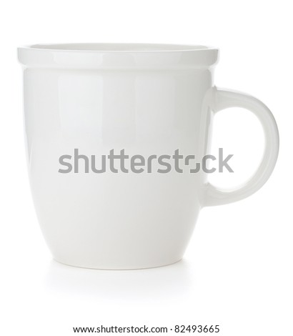 Empty coffee cup. Isolated on white background - stock photo