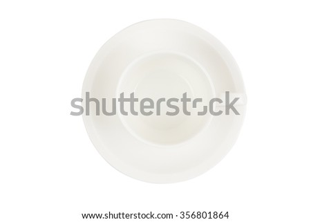 empty coffee cup on a white background