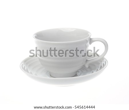 Empty coffee cup over white background