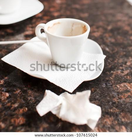 empty coffee cups - stock photo