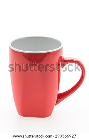 Empty coffee mug , coffee cup isolated on white background