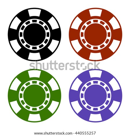 Empty Color Casino Poker Chips Set. illustration