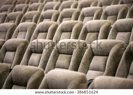 Empty comfortable seats in theater, cinema