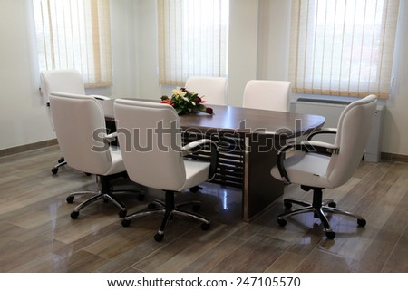 empty conference office with luxurious furniture - stock photo
