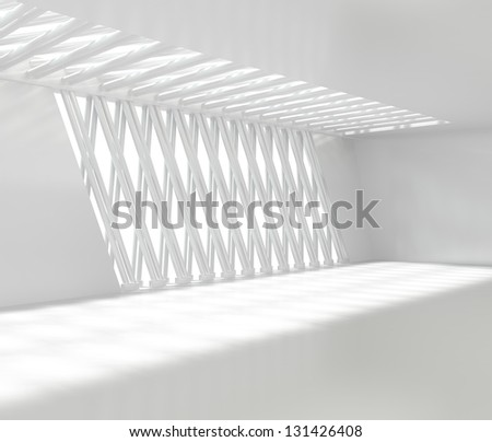 Empty Contemporary Office - 3d illustration - stock photo