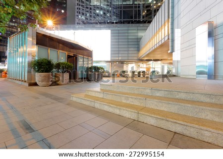 empty copy space in front of modern building exterior
