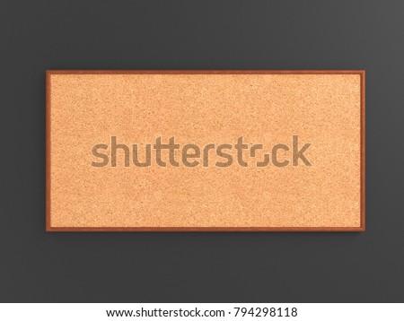 Empty Cork Board Noticeboard On Gray Stock Illustration 794298118 ...