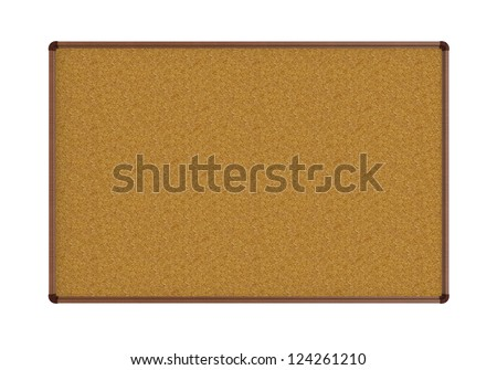 Empty Corkboard isolated on white - stock photo