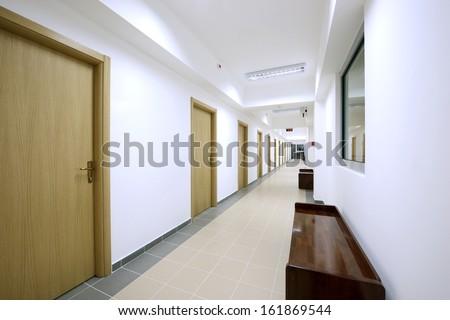 empty corridor  - stock photo