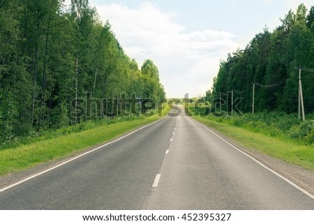 Empty countryside road