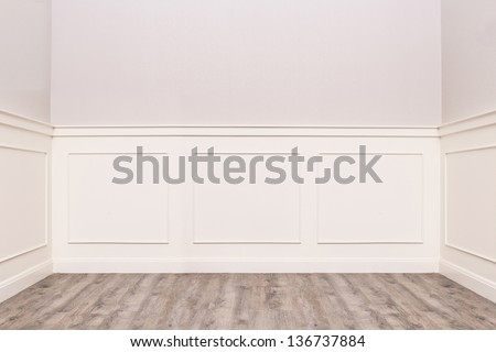 Empty cozy vintage room - stock photo