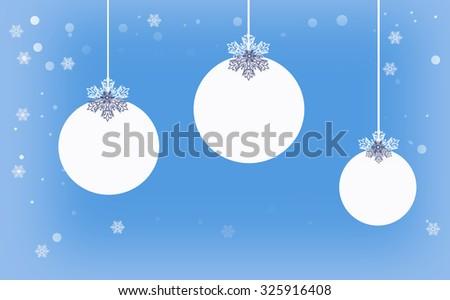 Empty cristmas balls with space for text