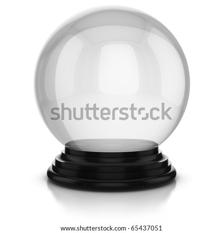 empty crystal ball isolated over white background - stock photo