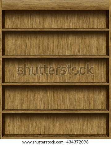Empty cupboard or bookshelf
