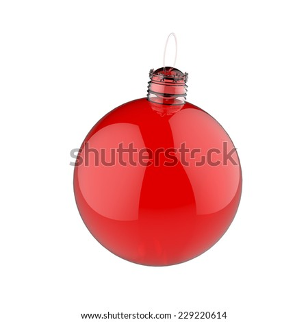 Empty 3d Christmas ornament  - stock photo