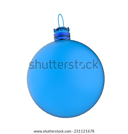 Empty 3d Christmas ornament