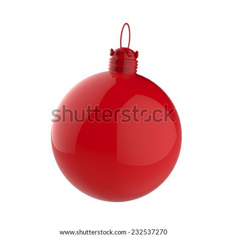 Empty 3d Christmas ornament  - stock photo