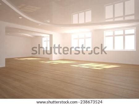 empty 3d interior design - stock photo