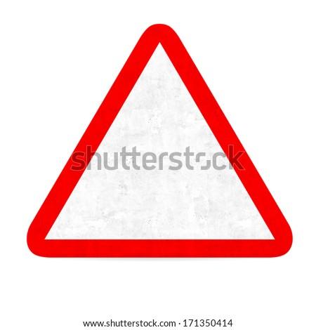empty danger road sign - stock photo