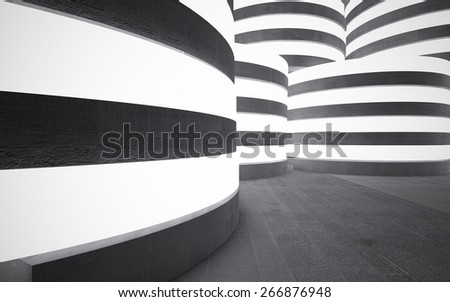 Empty dark abstract concrete room interior - stock photo