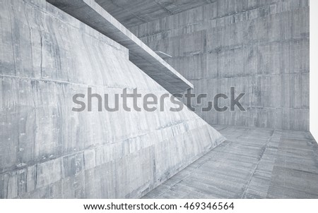 Empty dark abstract concrete room interior. Architectural background. 3D illustration and rendering