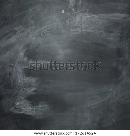 Empty dark chalkboard. blank and ready for your message. - stock photo