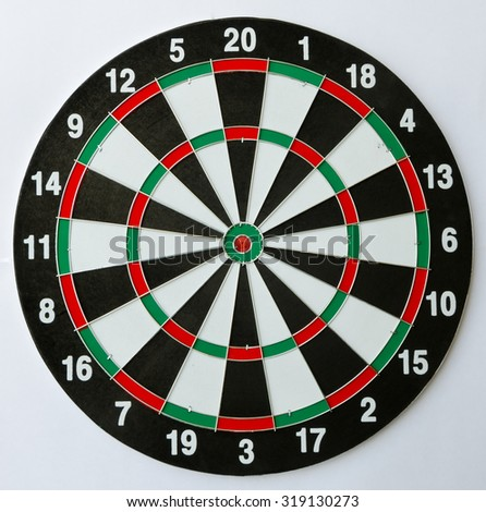 Empty Dartboard.