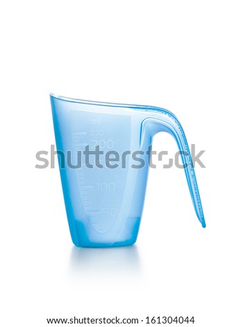 Empty  Detergent Measuring Cup Isolated on White Background - stock photo