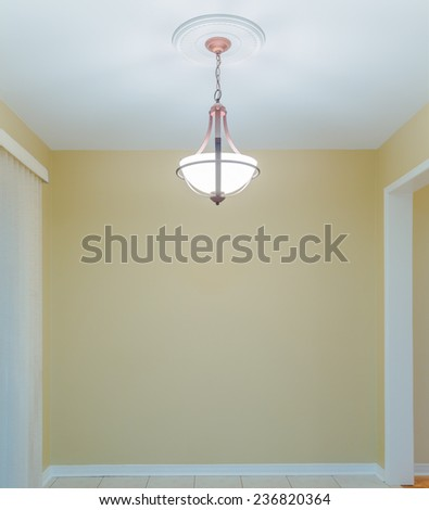 Empty Dining Room in a new apartment - stock photo
