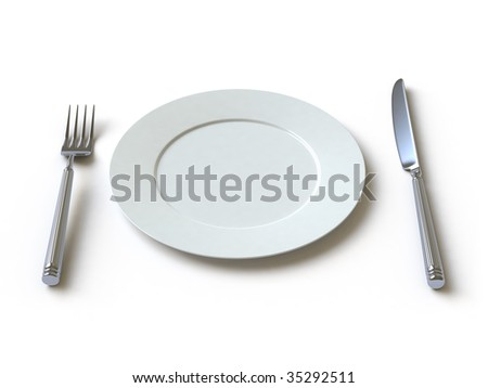 empty dish, fork and knife. In my portfolio there is collection of pictures of tablewares. You only enter IN a SEARCH the Photographer Name: PAVEL IGNATOV and keyword: TABLEWARE
