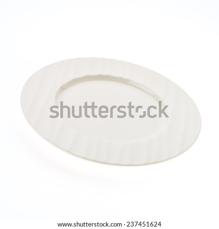 Empty dish plate isolated on white background