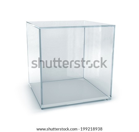 empty display box, 3d render  - stock photo