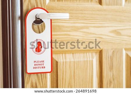 empty door do not disturb sign - stock photo