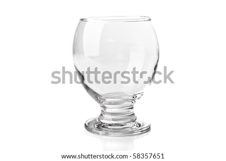 empty drinking glass. isolaed on white.