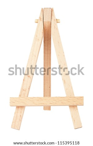 Empty easel isolated on a white background - stock photo