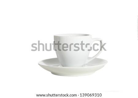 Empty espresso - stock photo