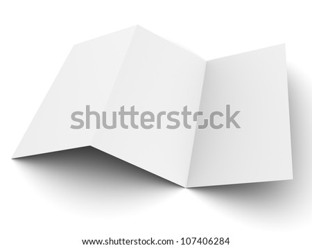 Empty flyer mockup display 3d illustration - stock photo