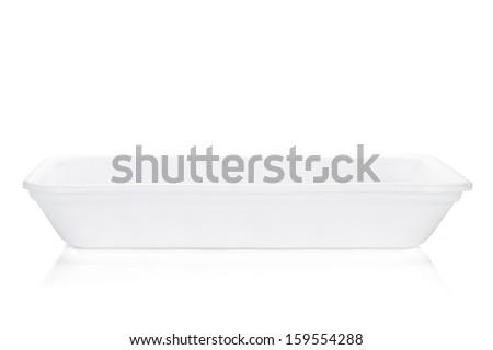 Empty food tray. Isolated on white background - stock photo
